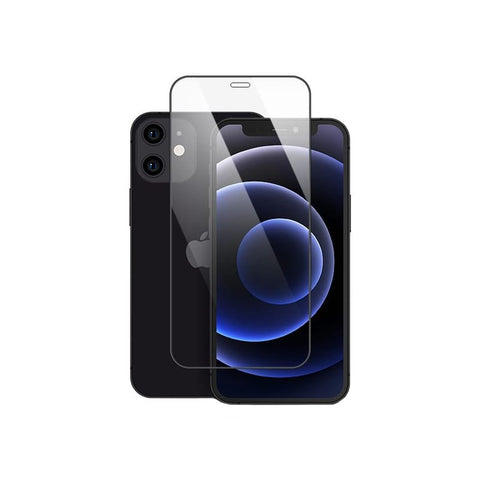 Mocoll 2.5D Tempered Glass Full Cover Screen Protector iPhone 12 Mini - Black - volkanoshop