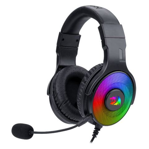Redragon Pandora USB | Vitrual 7.1 | RGB | In-Line Controller Gaming Headset - Black - volkanoshop