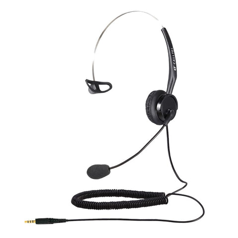 Calltel T400 Mono-Ear Noise-Cancelling Headset - Single 3.5mm Jack - volkanoshop