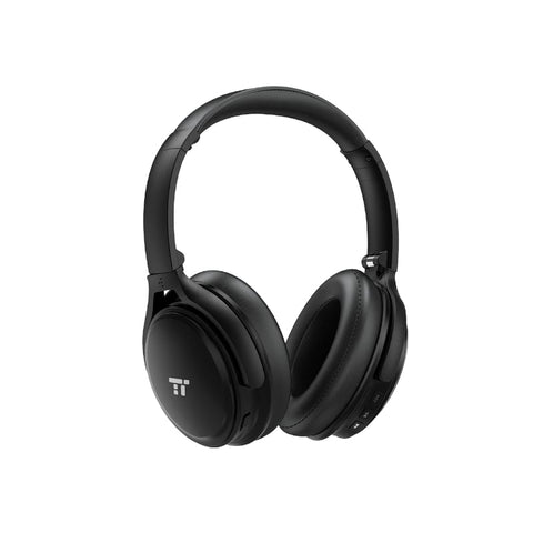 Taotronics Active Noise Cancelling Wireless Bluetooth 4.2 Up to 30 Hours Battery Headphones - Black - volkanoshop