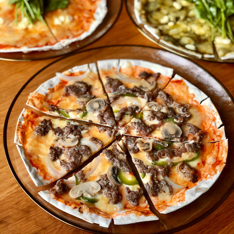 Angus Beef Thin Crust Pizza