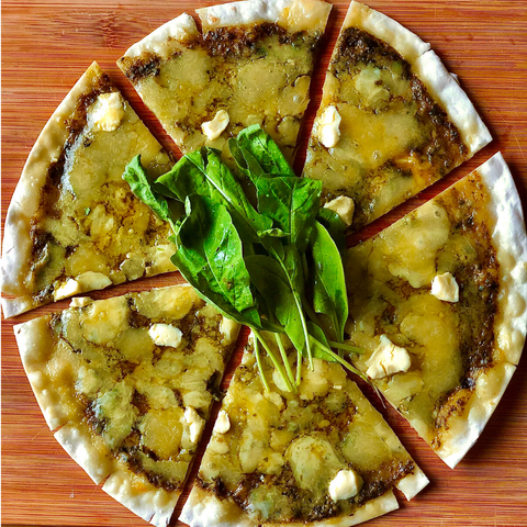 Pesto Thin Crust Pizza