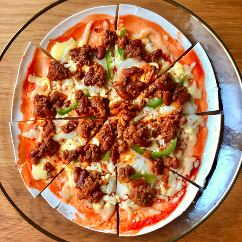 Tex-Mex Thin Crust Pizza