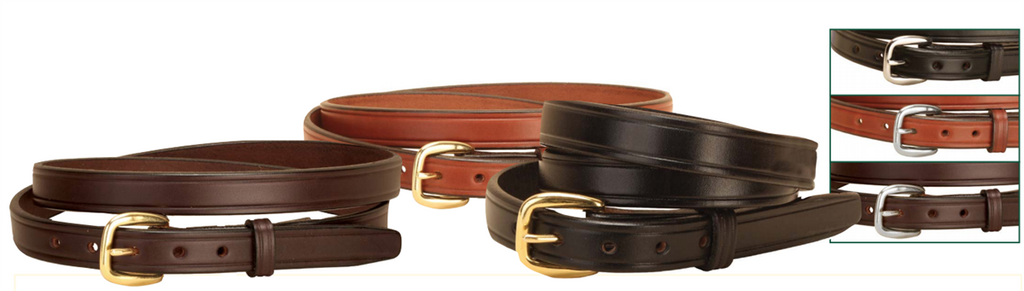 "Tory Leather 2/3"" Plain Leather Belt"