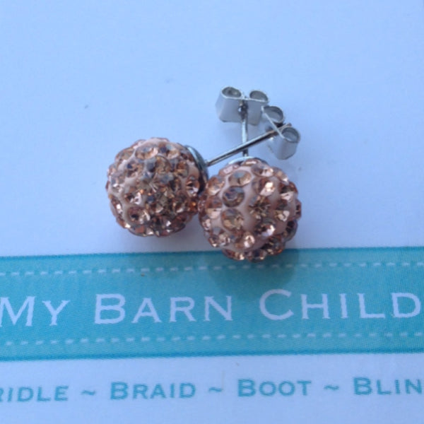 My Barn Child Champagne Earrings