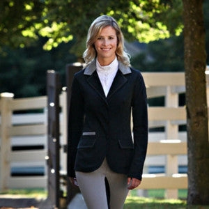 Arista Modern Hunter Jacket  - Black with Grey Suede Collar