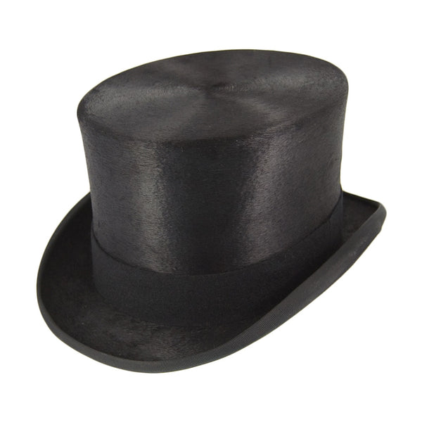 Christy Black Fur Top Hat