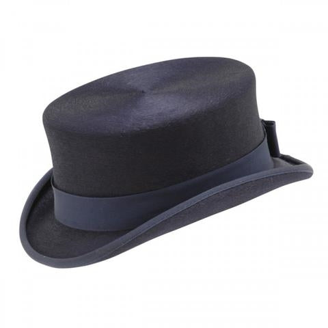 Kaminski Navy Felt Top Hat