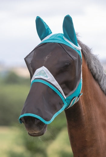 Shires Full Face Fly Mask with Removable Nose