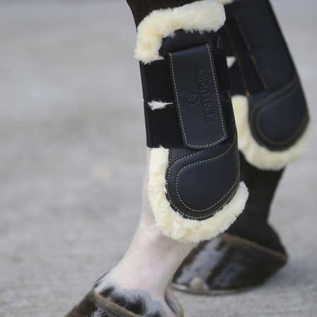 Sheepskin Leather Tendon Boots Hook & Loop