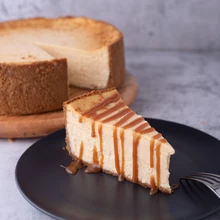 coffee project salted caramel cheesecake