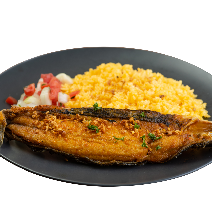 Boneless Bangus with Rice and Atchara-Chicken Deli