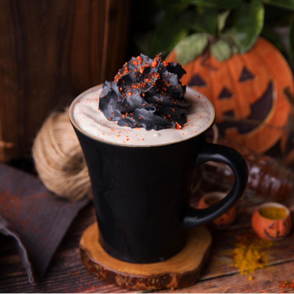 Hot Pumpkin Spice Black Whip Latte