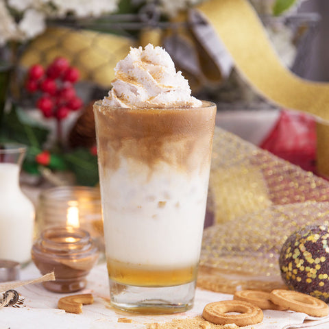 Iced Cinnamon Shortbread Cookie Latte