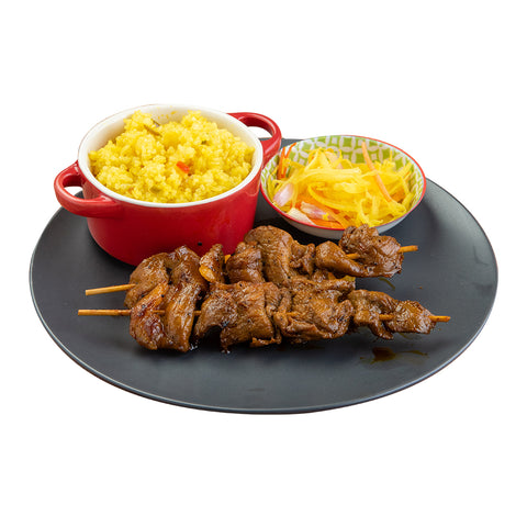 Pork Barbecue with Rice and Atchara-Chicken Deli