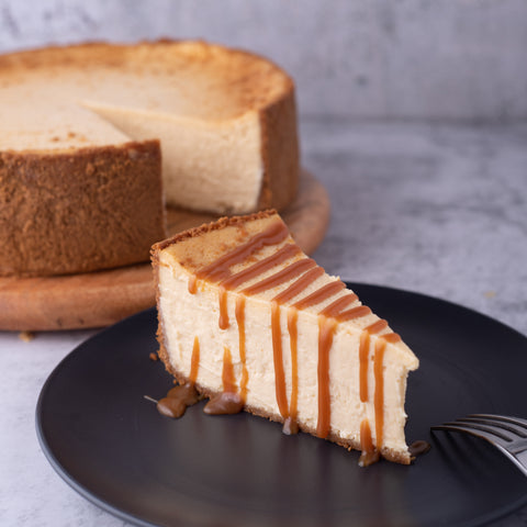 Salted Caramel Cheesecake (Sliced) -Coffee Project