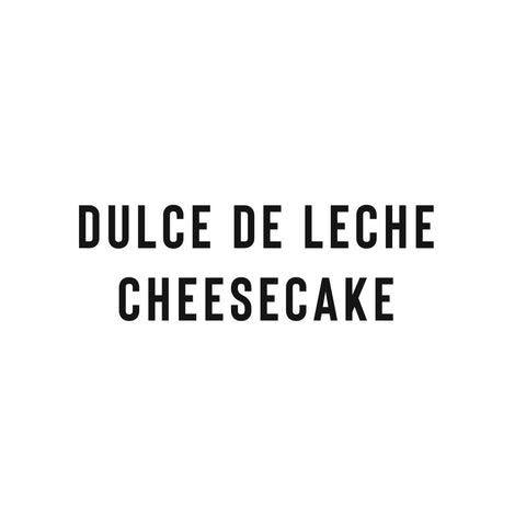 Dulce De Leche Cheesecake (Whole) -Coffee Project