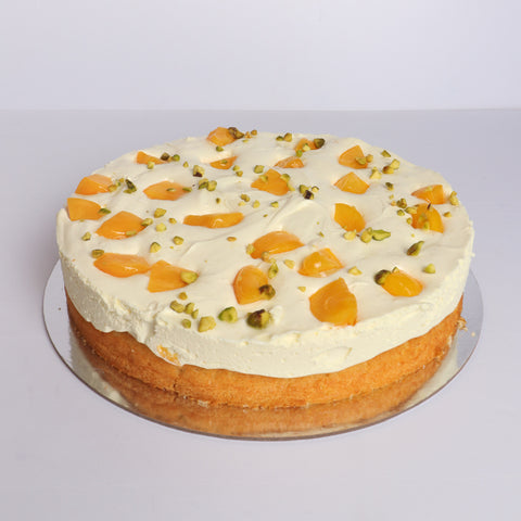 Peach Mango Mousse Cake-Bake My day