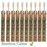 Lot de 10 Brosses à dents Bambou | Bambou Calme™ 🍃