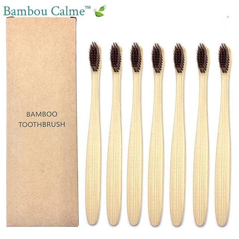 Brosses à Dents Bambou Marrons | Bambou Calme