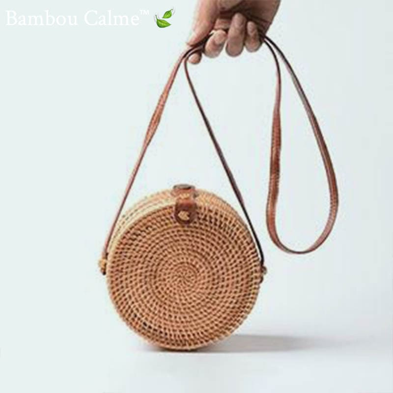 Sac Paille Rond <br>Little Xoxo Style