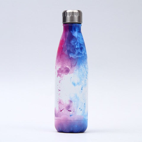 Gourde Inox Photo Cosmos Bleu Rose