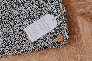 Leopard Print Wrap Care Label