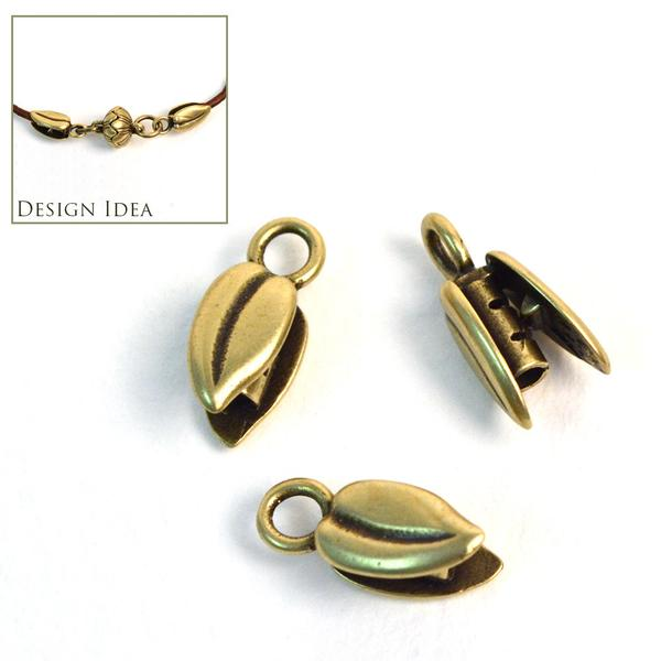 1.5mm Leaf Crimp- Brass