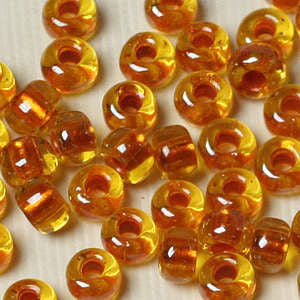 6-3802- Pearlized Light Amber 6/0