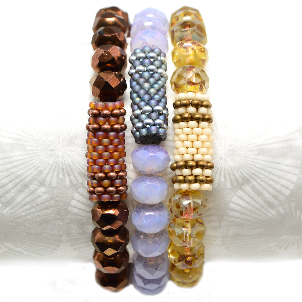 Beaded Bead Stacks