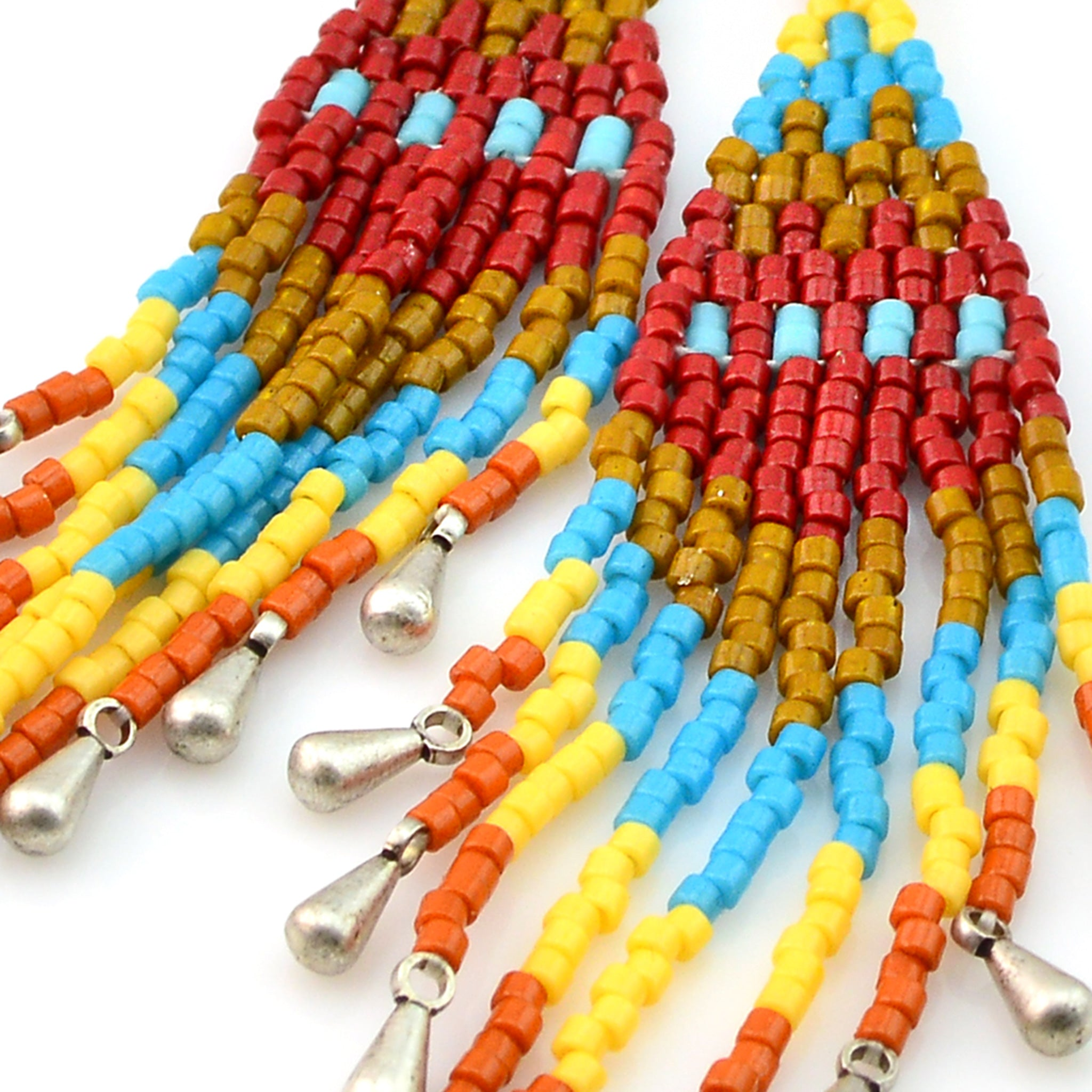 Brick Stitch Tassel Earrings Recipe