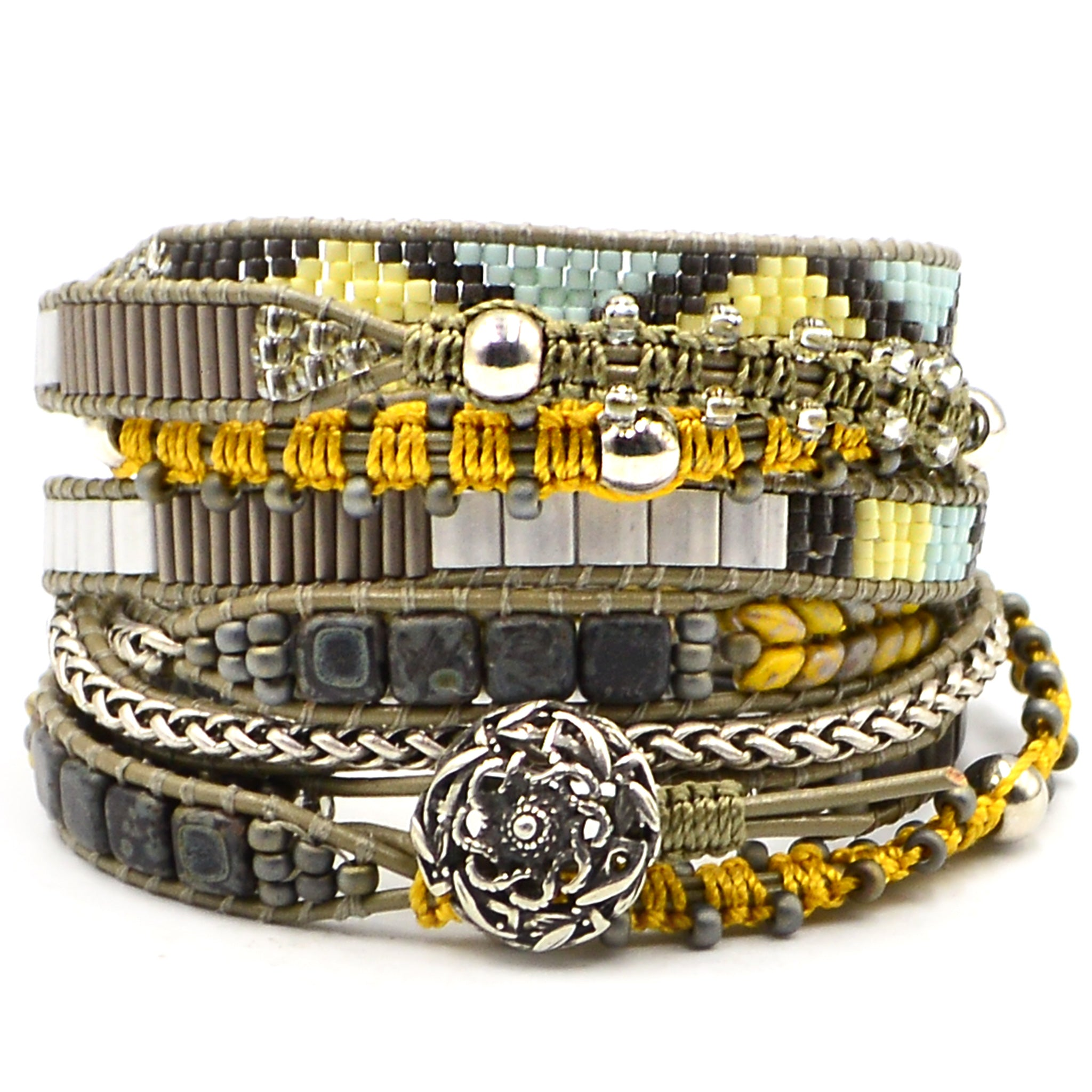 Color Study Wrap Bracelet