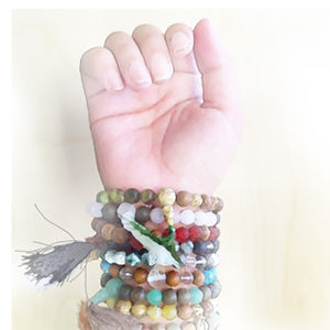 Daily Intentions a Stretch Bracelet