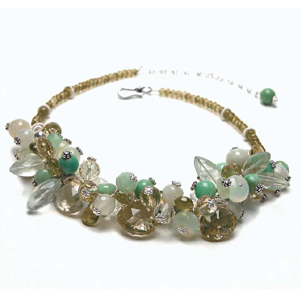 Gem Cluster Necklace