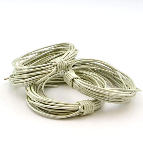 Metallic Mint- 1.5mm Indian Leather