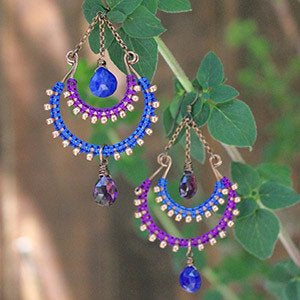 Midnight in Mumbai Earrings