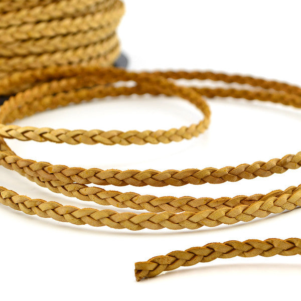 Natural Braided Leather