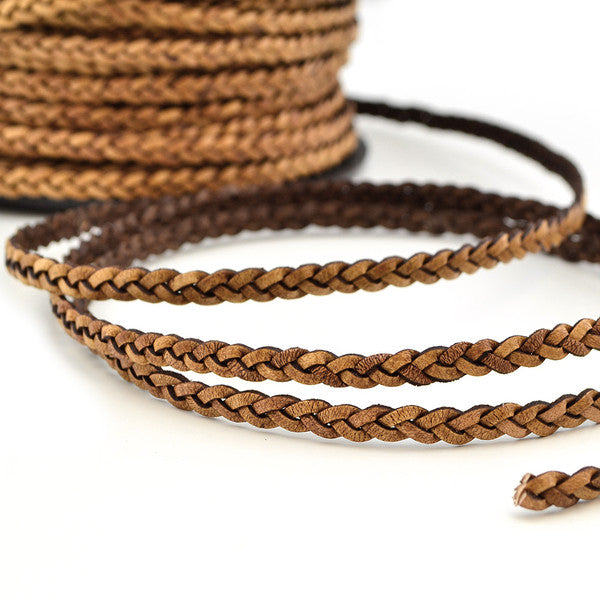 Natural Light Brown- Braided Leather