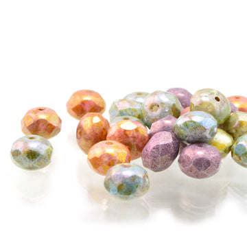 8mm Rondelles- Stone Mix