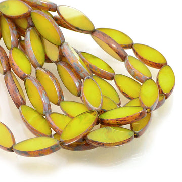 Spindle Beads- Yellow Picasso