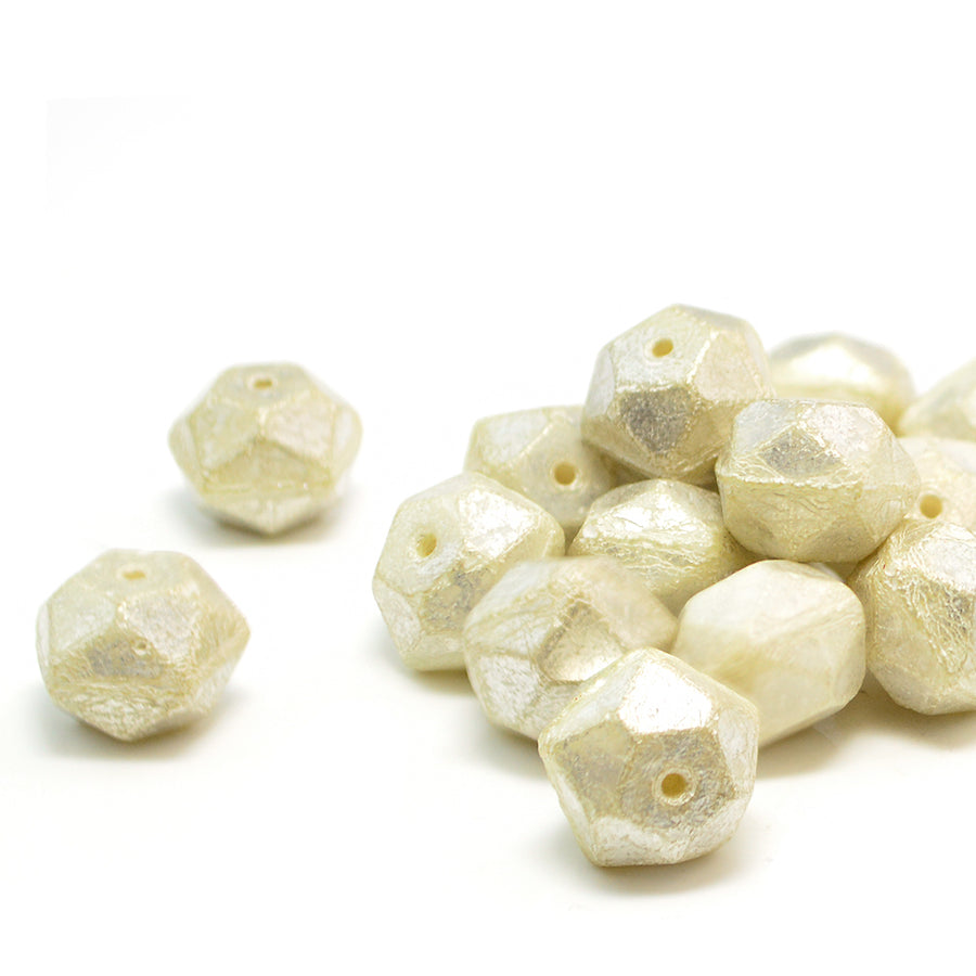 10mm English Cut- Ivory Mercury