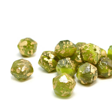 10mm English Cut- Avocado Gold