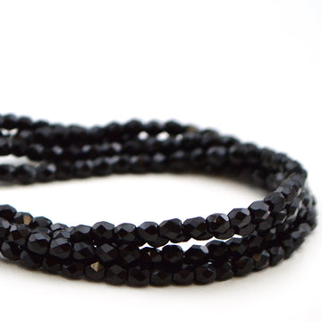 3mm- Jet Black - Beadshop.com