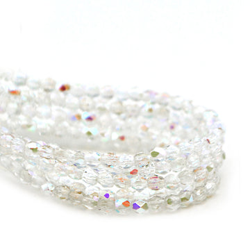 3mm- Crystal AB - Beadshop.com