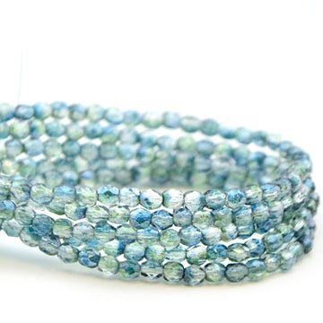 3mm- Dual Lustered Blue Green - Beadshop.com