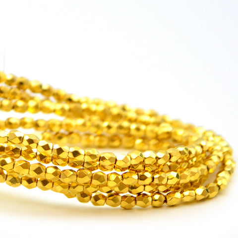 3mm- 24Kt Gold Plated