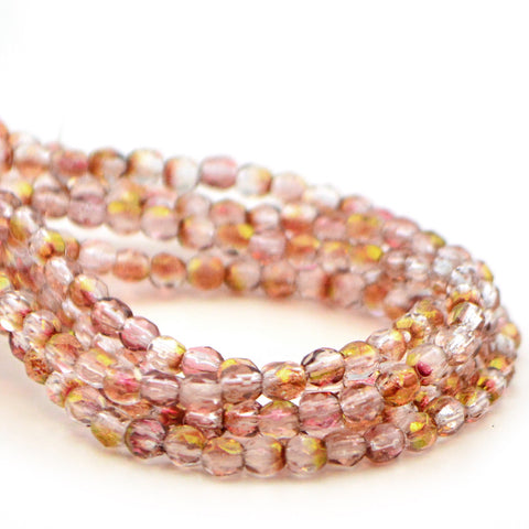 3mm- Luster Transparent Pink - Beadshop.com