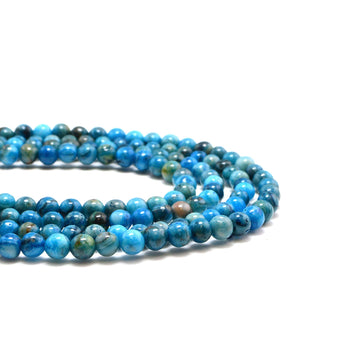 Blue Calico- 4mm - Beadshop.com