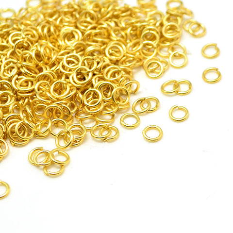 Bright Gold Jump Rings - 4mm/21g