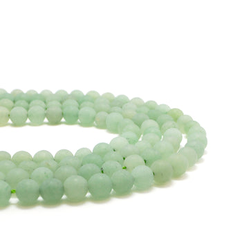 Matte Light Aventurine-6mm - Beadshop.com
